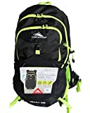 High Sierra 28 Liter Front-Loading Frame Pack – OMAK 28 Urban/Trail Hiking (Hydration Access Ready) (Black/Yellow)