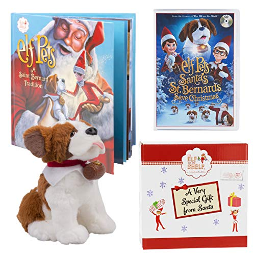 Pets Gift Set - Saint Bernard Plush, Storybook and DVD Movie Santa's St. Bernards Save Christmas - with Limited Edition Official Gift Box - Ages 3+ ()