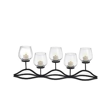 Danya B  Wavy Iron and Glass Hurricane Candleholder. Amazon com  Danya B  Wavy Iron and Glass Hurricane Candleholder
