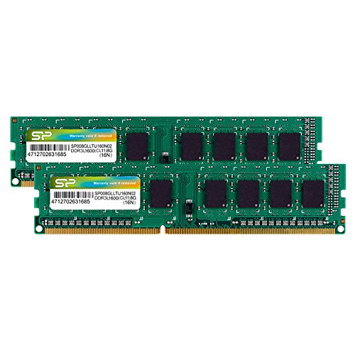 Silicon Power 16GB Kit DDR3-1600 MT/s 240 Pin Dual 1.35V/1.5V UDIMM Desktop Memory SP016GLLTU160N22 by Silicon Power (Image #4)