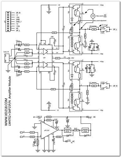 Lm4702 Sap15p/n Assembly 2x100w Class Ab Audio Power Amplifier Board W/heatsink by Electronics BoardJINGLUYAO (Image #3)