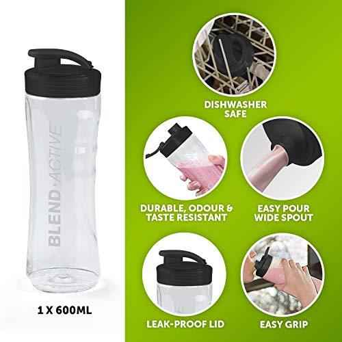 Breville Blend Active Personal Blender & Smoothie Maker | 1 x Portable Blending Bottle (600 ml) | 300 W | Black & Rose Gold [VBL239]