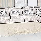 80X120cm Silky Carpet Mats Sofa Bedroom Living Room Anti-Slip Floor Carpets cream color 80x120cm