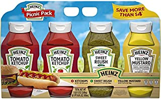 product image for Heinz Ketchup, Mustard, and Sweet Relish Picnic Pack, 4 Pack