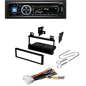 Car Stereo Radio Kit Dash Installation Mounting Kit Wiring Harness Removal Tools With Alpine CDE-143BT Advanced Bluetooth CD Receiver
