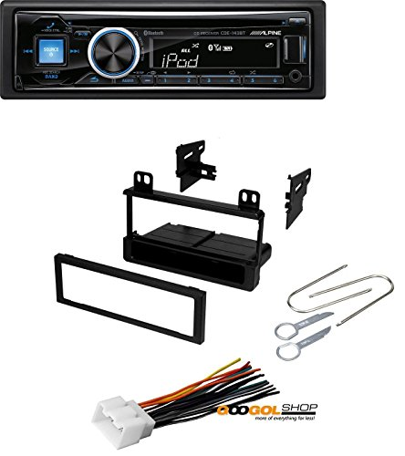Car Stereo Radio Kit Dash Installation Mounting Kit Wiring Harness Removal Tools with Alpine Advanced Bluetooth CD Receiver
