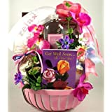 Get Well Spa and Gourmet for Her | Get Well Spa Gift Basket and Gourmet Snacks by Organic Stores