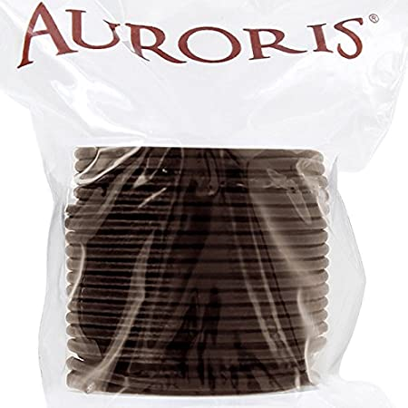 Color Negro Redondo Di/ámetro 1/mm Auroris 100/m Rollo Cinta de Piel