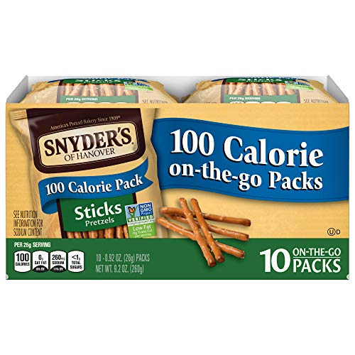 Snyder's of Hanover Pretzel Sticks, 100 Calorie On-The-Go Packs, 10 Count