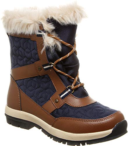 BEARPAW Women's Marina Snow Boot, Hickory, M8 M US