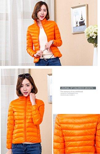 Winter Coat Down Outwear Jacket Light Women's ACMEDE Warm Orange txaUUq