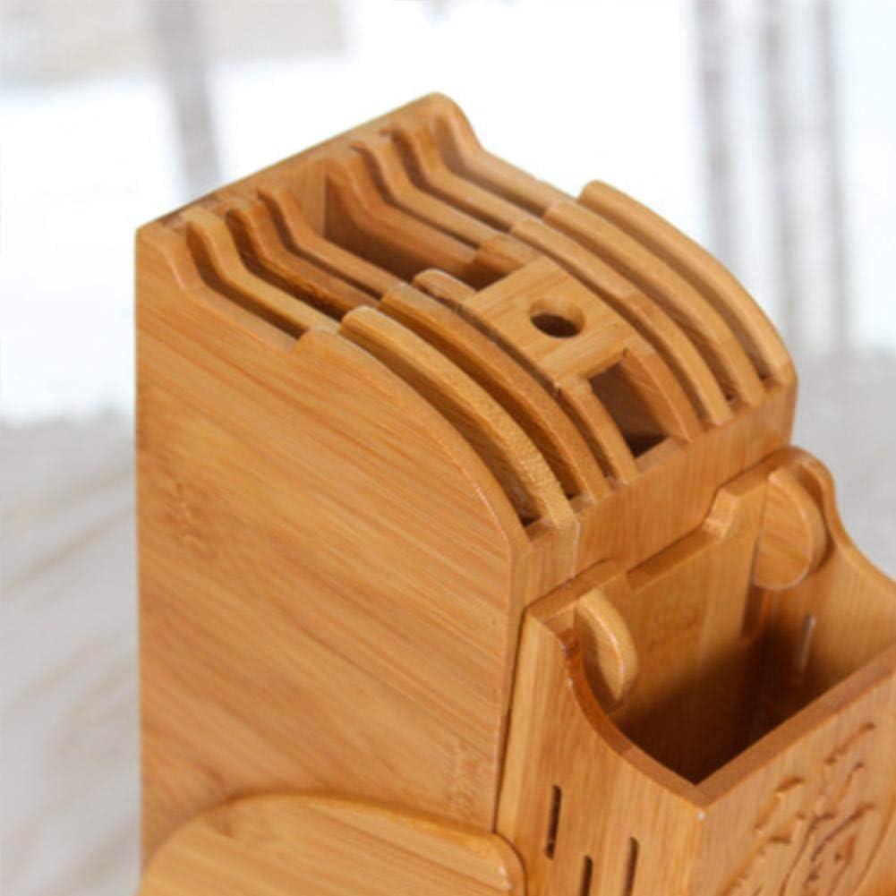 raspbery Messerblock K/üchen Leerer Messerblock Multifunktionales Rack mit Hoher Kapazit/ät f/ür Sichere Saubere Aufbewahrung des Messers