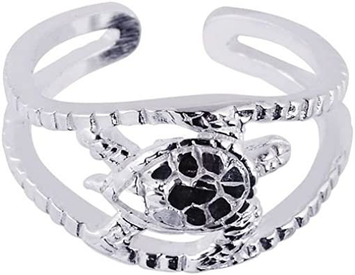 Sterling Silver White Rohdium Finish Toe Ring