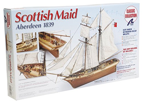 Artesania Latina 18021 Scottish Maid Schooner Wooden Model Modeling Kit, 26.37''x18.11''x  9.44''