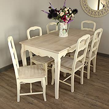 Phenomenal Melody Maison Country Ash Range Dining Room Set Cream Home Interior And Landscaping Ologienasavecom