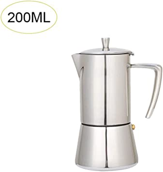 Cafeteras de Acero Inoxidable 200ml/300ml Filtro de Olla Cafetera ...