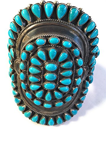- Nizhoni Traders LLC Anthony Skeets Navajo Cluster Turquoise Sterling Silver Cuff Bracelet Signed