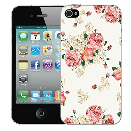 Mobile Case Mate iPhone 5 Silicone Coque couverture case cover Pare-chocs + STYLET - Pink Carnation pattern (SILICON)