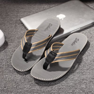 fashion wear slip beach male The students grip fankou cool summer soft Light 41 drag and Gray the slippers foot trend non that slippers and 8xCZq