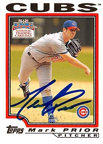Mark Prior Autographed Baseball Card Chicago Cubs 2004