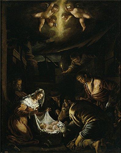 The Polyster Canvas Of Oil Painting 'Bassano  La Adoracion D