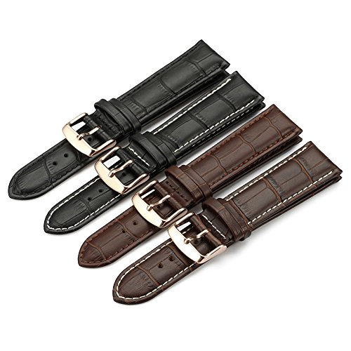 iStrap Calfskin Leather Watch Band Replacement Choice of Color & Width (18mm,19mm, 20mm,21mm or 22mm)