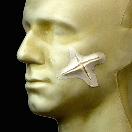 Rubber Wear Foam Latex Prosthetic - Small X Cut FRW-037 - Makeup and Theater FX