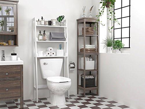 Amazon Com Utex 3 Shelf Bathroom Organizer Over The Toilet Bathroom Spacesaver White Kitchen Dining