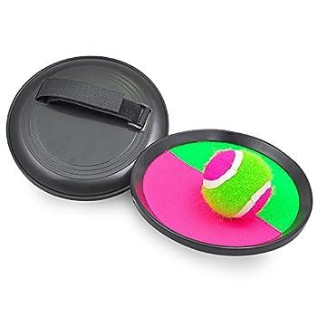 Pevor Paddle Tennis Toy Ball Toss & Catch Sports Ball Throw Catch Bat Ball Game Set 1