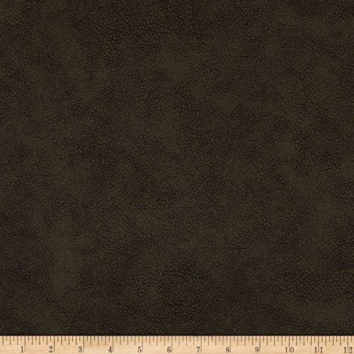 Espresso Upholstery - Richloom Fabrics 0589177 Richloom Tough Caribou Faux Leather Espresso Fabric by The Yard,