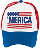 "Old Glory Fourth of July Patriotic Spirit Men's Hat Accessory, Fabric, 6"" x 10"" x 4"""