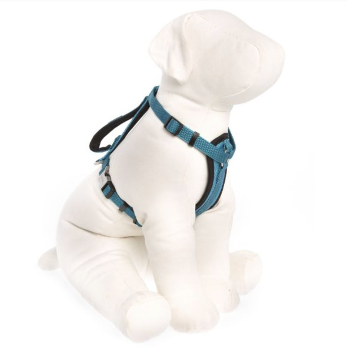 KONG Comfort Padded Chest Plate Dog Harness offered by Barker Brands Inc(Large, Blue).