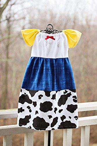 Jessie Dress Toy Story, Toy Story Dress, Jessie Costume, 18-24 Mo, 2T-5T, 5-7 Girls - Costume Xviiie