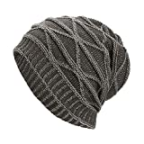NRUTUP Winter Hats, Unisex Warm Hat, Skull Cap, Ski Hat - Knit Hat .(Gray,Free Size)