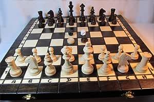Chessebook - Ajedrez + Damas + Backgammon Tablero de 40 x 40 cm