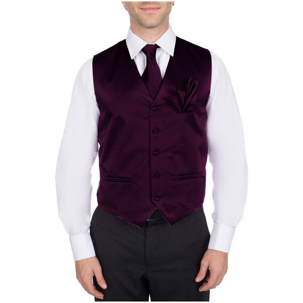 Buy Your Ties Men's Solid Dress Vest Neck Tie For Tuxedo And Suit