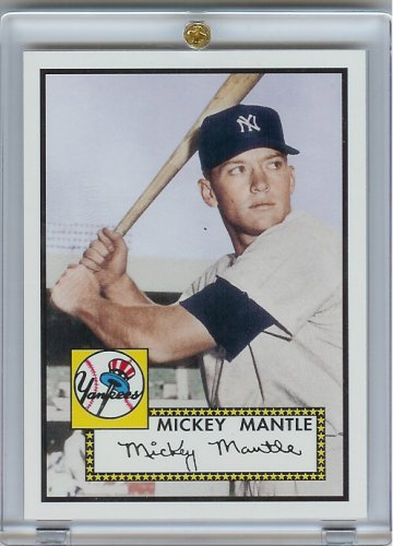 2006 Topps Mickey Mantle #1 Rookie Of The Week Baseball Card - Mint Condition- Shipped In Protective Screwdown Case!