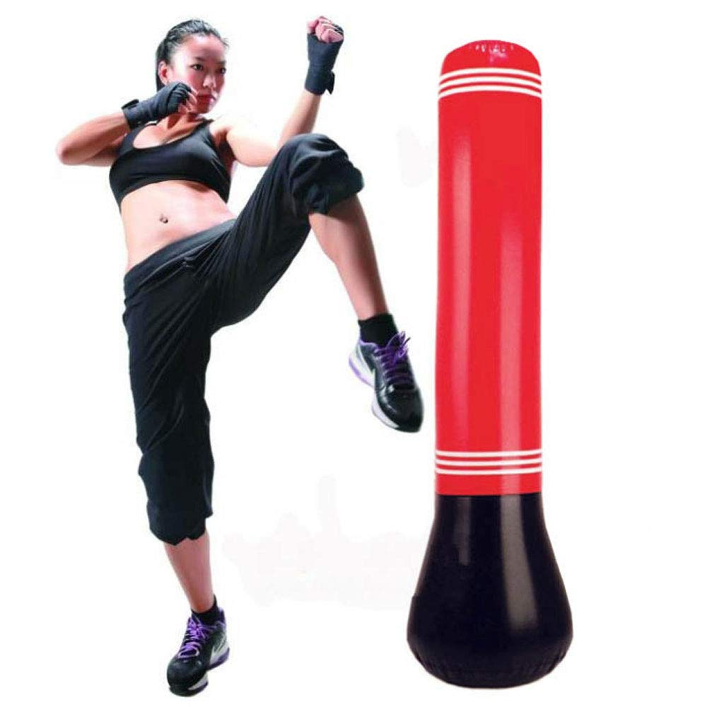 KY Saco de Boxeo Inflable Boxing MMA Punching Target Bag Free ...