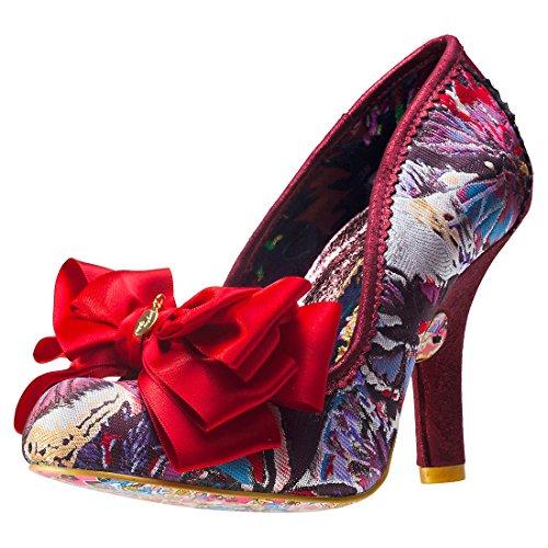 Irregular Choice Ascot Womens Shoes Red Multicolour - 38 (Irregular Choice Women Footwear)