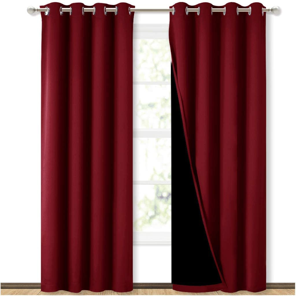 NICETOWN Set of 2 Each 52x84Inch 100% Blackout Curtains$41.6
