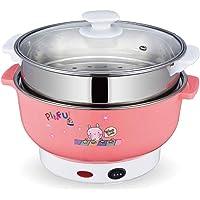 Provide The Best Cocina eléctrica Multifuncional Mini Calefacción Olla de Acero Inoxidable Hotpot Fideos de arroz cocido al Vapor al Vapor Sopa de Huevos Pot