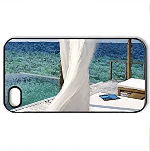 Beautiful Room - Case Cover for iPhone 4 and 4s (Modern Series, Watercolor style, Black)