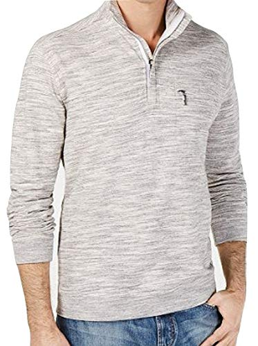 Tommy Bahama Sunrise Sands Half Zip Pullover (Color: Shadow, Size -
