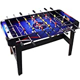 48'' Inch Indoor Arcade Game Foosball/Football Table for Recreation Living Room College Dormitory, Sturdy and Strong Built (Blue-Black, 48)