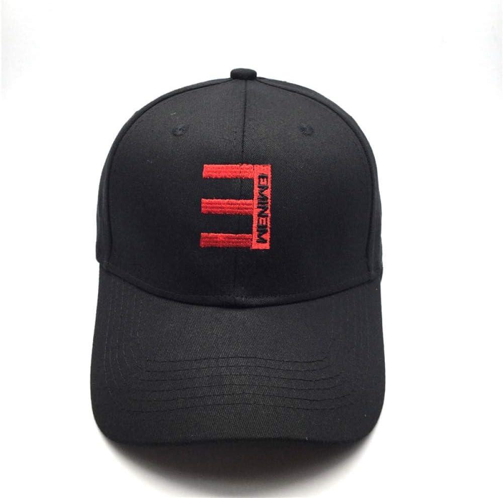 Berretti per Uomo Donna bianca Regolabile Cappello Sportivo per il Tempo Libero Regolabile Cappello da Sole Bianco Regolabile S-C Berretto da Baseball con Ricamo Rapper Eminem