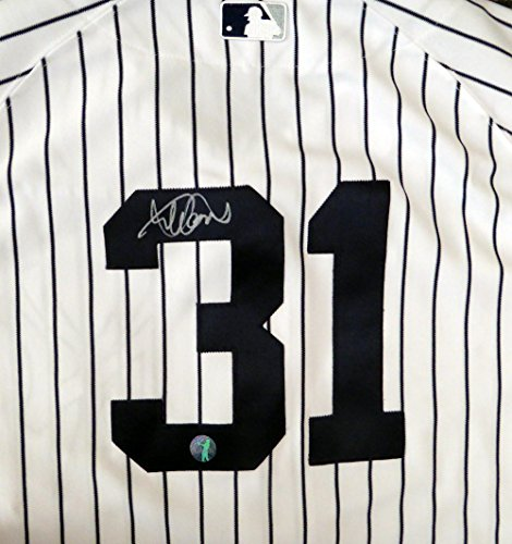 NEW YORK YANKEES ICHIRO SUZUKI AUTOGRAPHED WHITE PINSTRIPES MAJESTIC AUTHENTIC JERSEY SIZE 44 IS HOLO STOCK #123783 Autographed Majestic Authentic Pinstripe Jersey