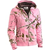 Legendary Whitetails Womens Hideaway Hoodie RT/Pink X-Large