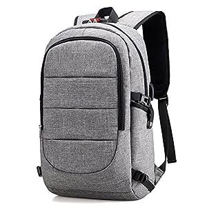 Zaino Laptop BstAmzStore 3in 1 con serratura, porta USB di ricarica, interfaccia cuffie,Zaino da viaggio per il viaggio… 5 spesavip