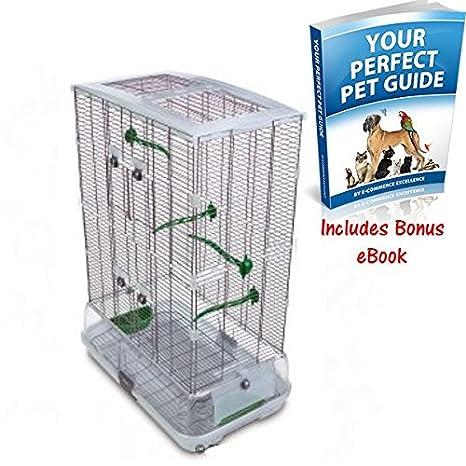Doble Altura de jaula de pájaros para pájaros de tamaño mediano ...