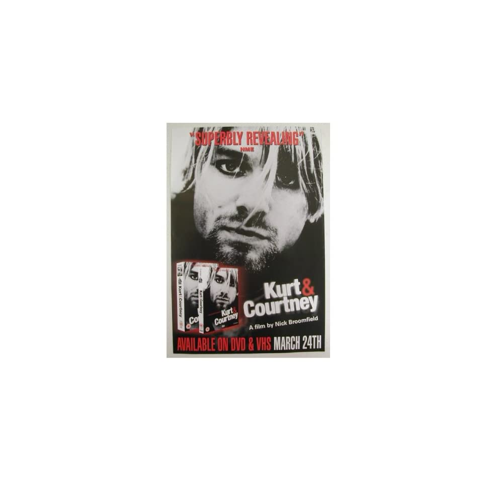 Nirvana Kurt Cobain Courtney Love Poster 20 By 30